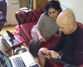 Imtaz with Ray O'Neil working on documentary