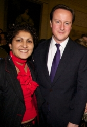 Imtaz with David Cameron at 10 Downing Street