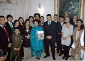 Imtaz at Pakistani Embassy with former ambassador, Amir Khan, and other celebrities